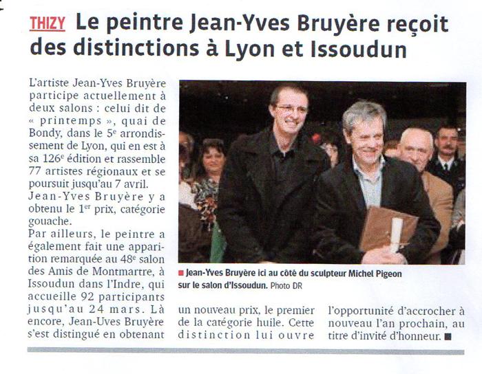 Distinction à Lyon et Issoudun