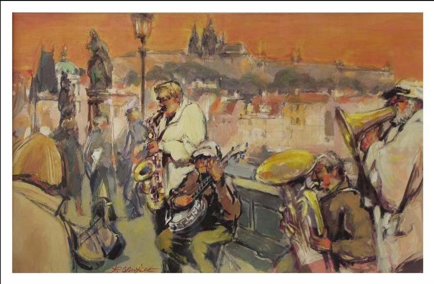 Musiciens à Pragues
