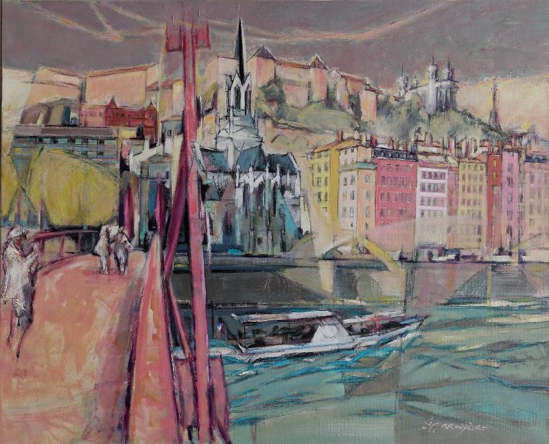 Lyon, la Saône à St Georges - 86x104