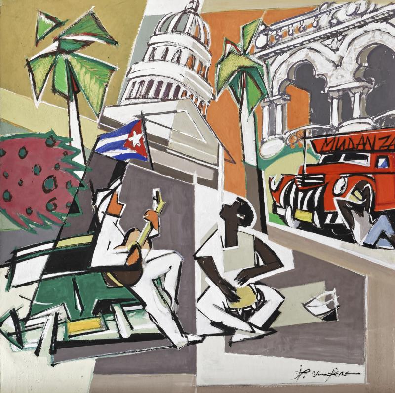 Souvenir cubain - 70x70